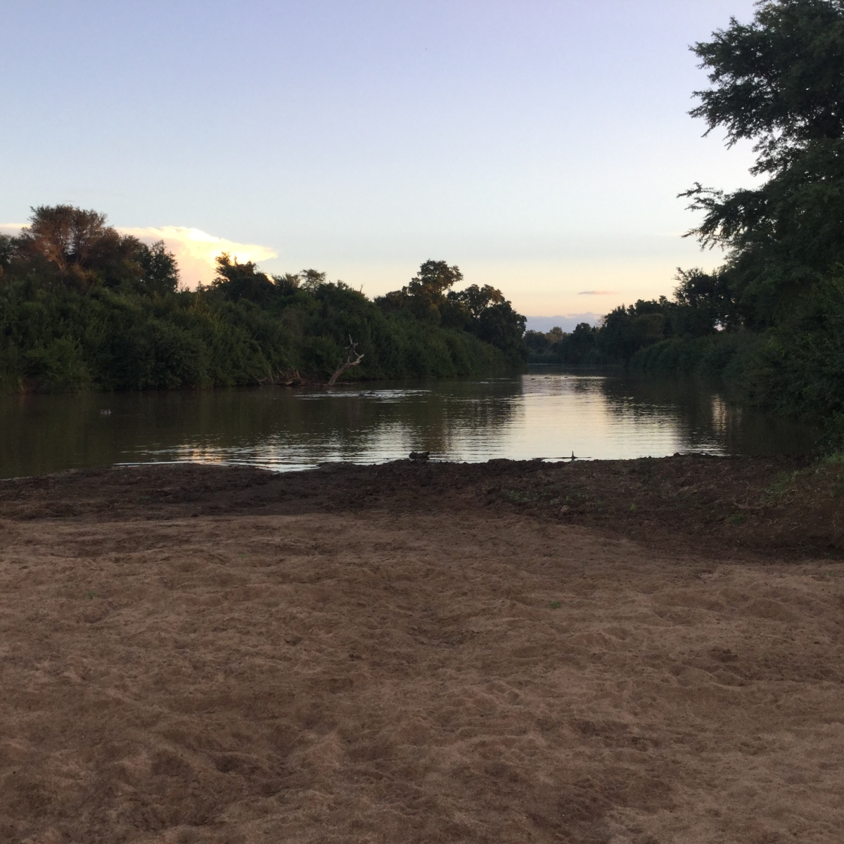 Luvuvu River meeting Limpopo River