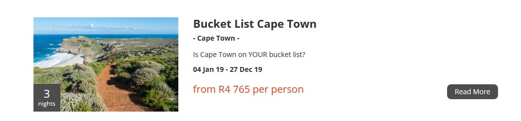 Bucket List Cape Town