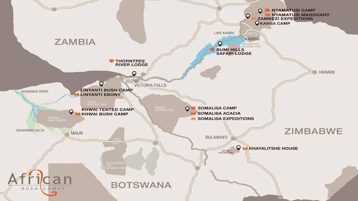 Mana Pools map
