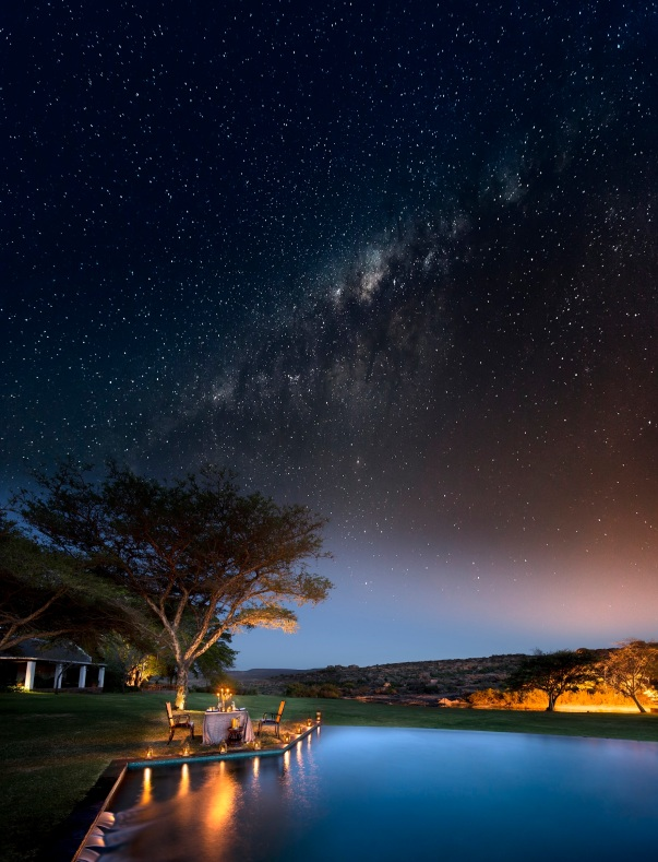 Bushmans Kloof dining under the stars