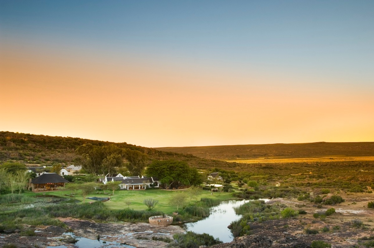 Bushmans Kloof exterior sunset